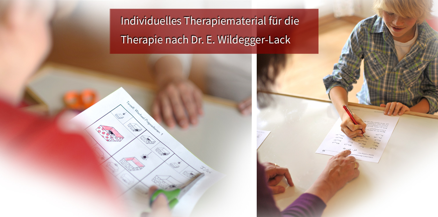 Therapiematerial des Verlags Wildegger
